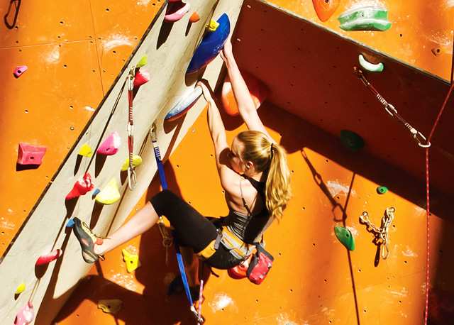 Cimbing at Stone Summit Climbing & Fitness