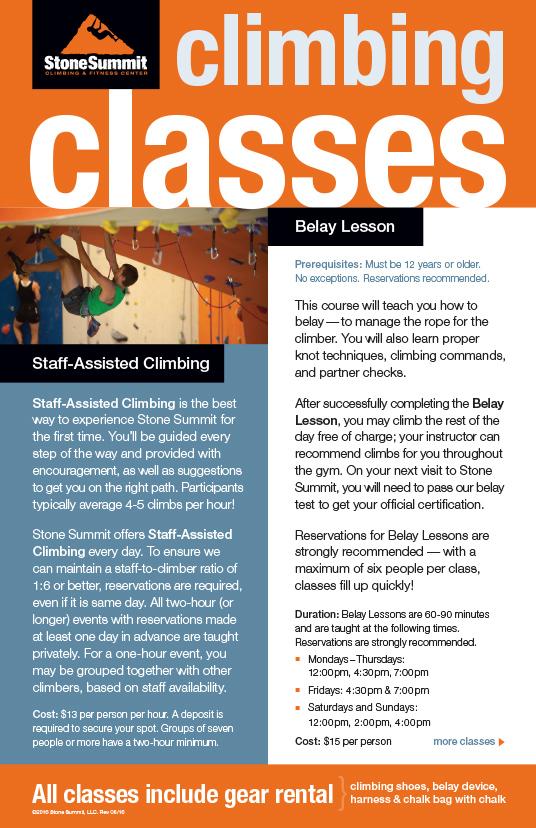 Classes Brochure