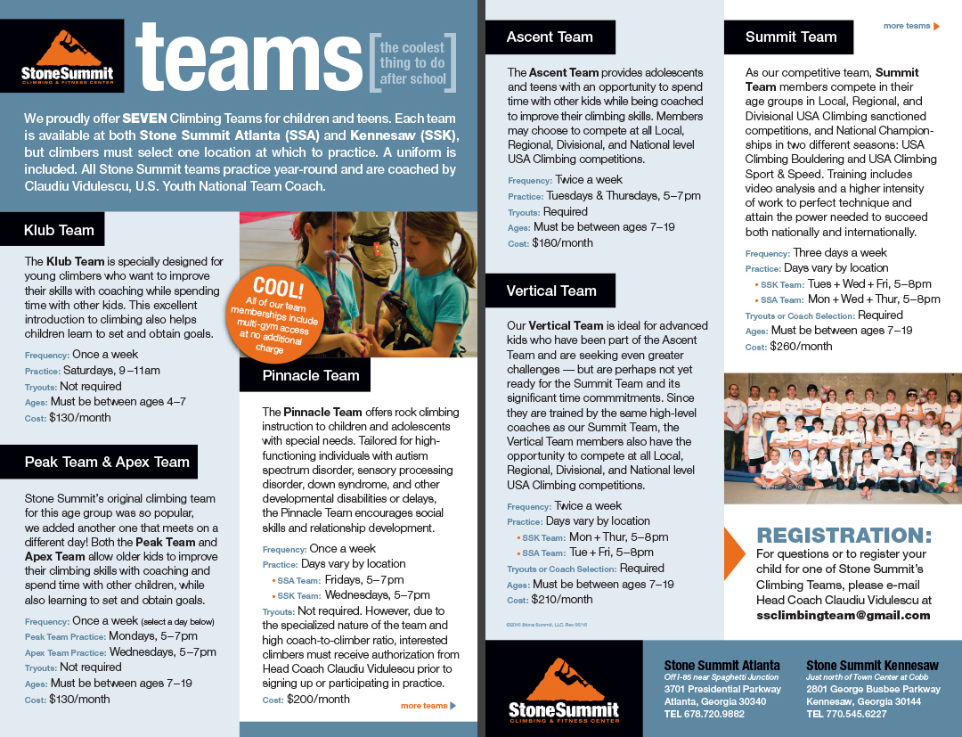 Youth Teams Brochure