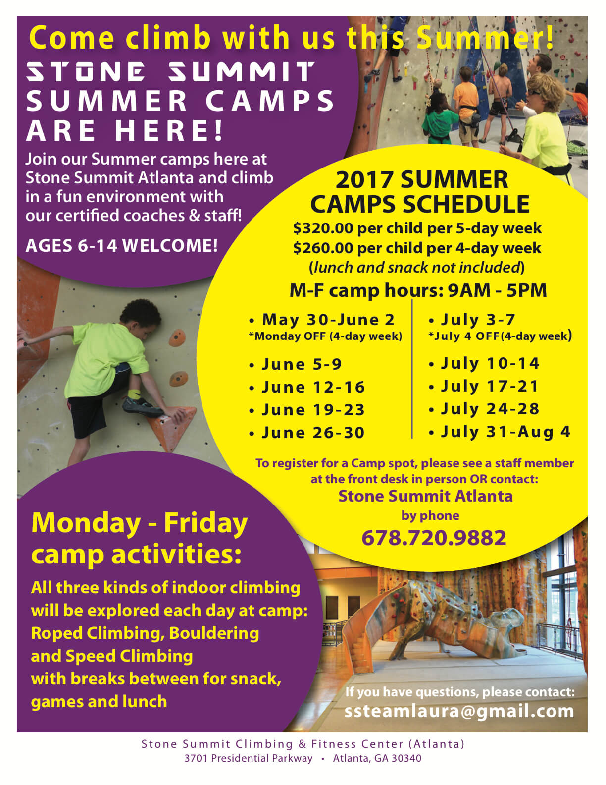 Stone Summit Summer Camp - Atlanta