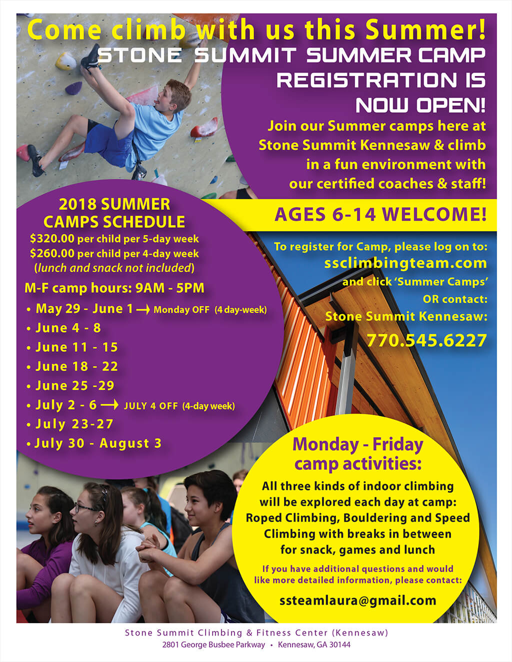 Stone Summit Summer Camp - kennesaw