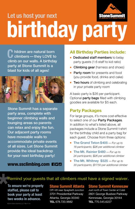 Parties Brochure