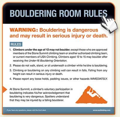 Bouldering Rules