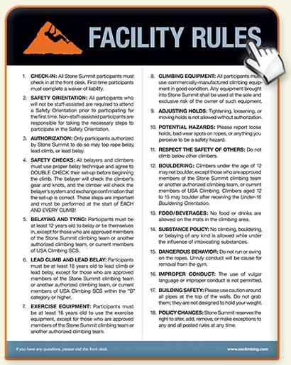 Front Desk Rules